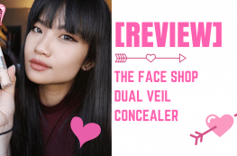 the face shop dual veil concealer