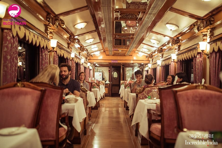 Golden Chariot Amazing Luxury Train Journey Dining Cart