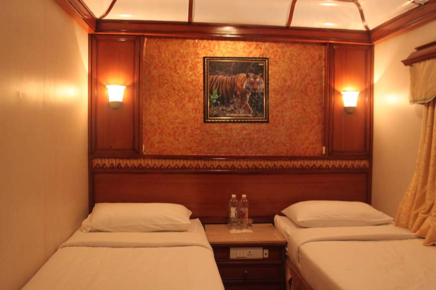 Golden Chariot Amazing Luxury Train Journey in India Bedroom