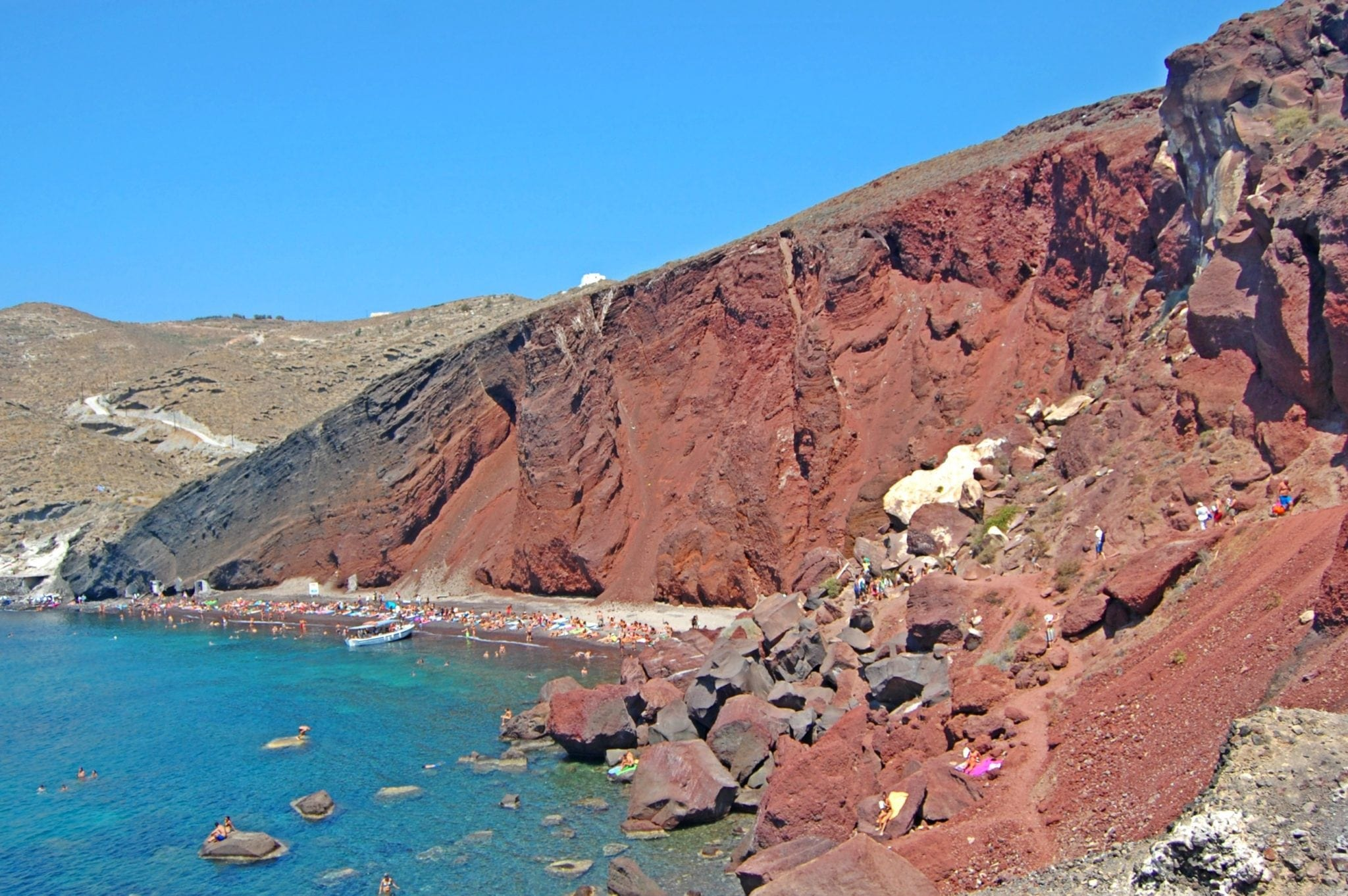 top 10 best things to do in santorini greece -Red Beach of Santorini