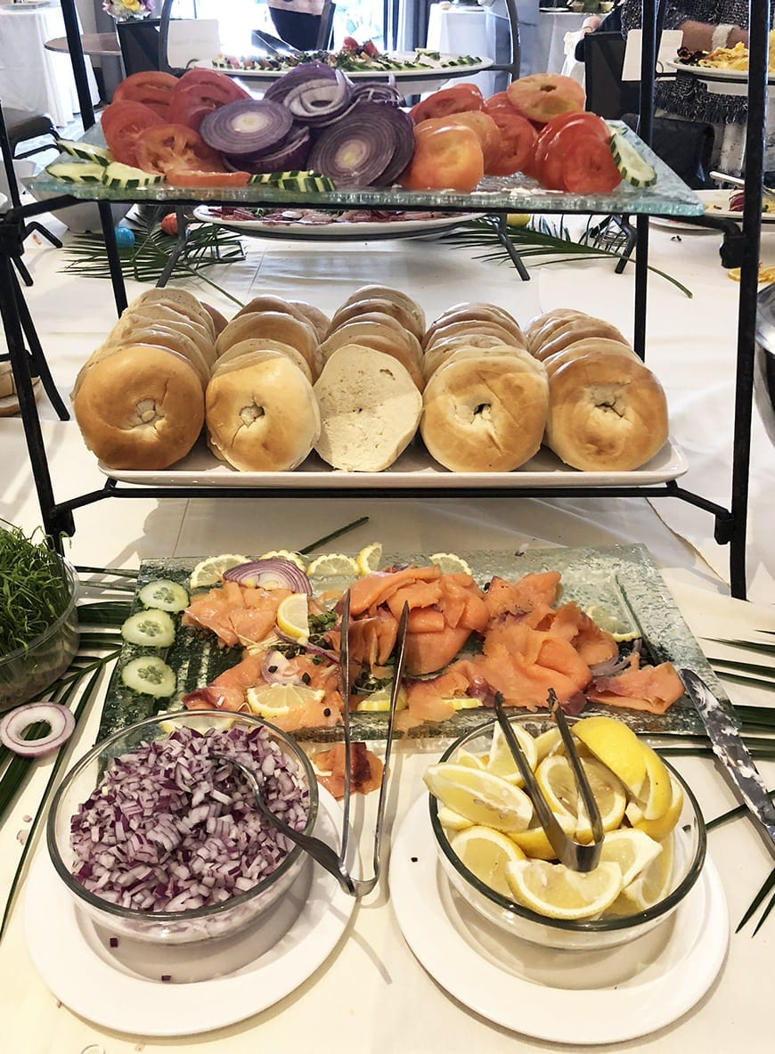 Luxe Sunset Boulevard Hotel - Easter Brunch Buffet - Bagels and Lox