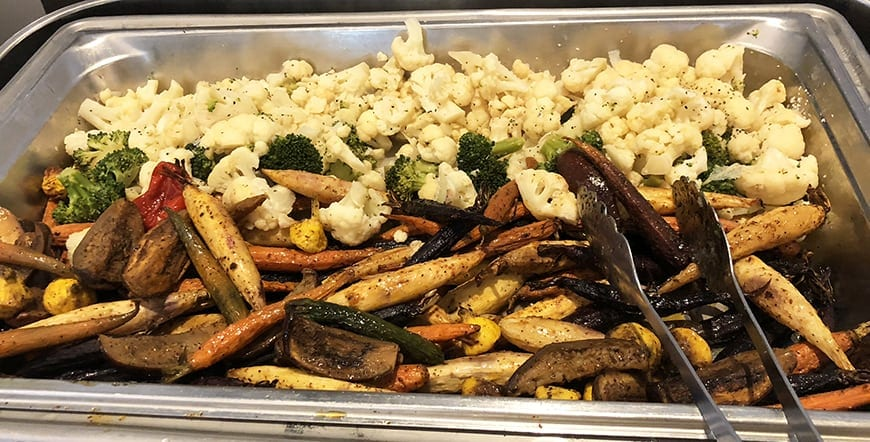 Luxe Sunset Boulevard Hotel - Easter Brunch Buffet - Roasted Vegetables
