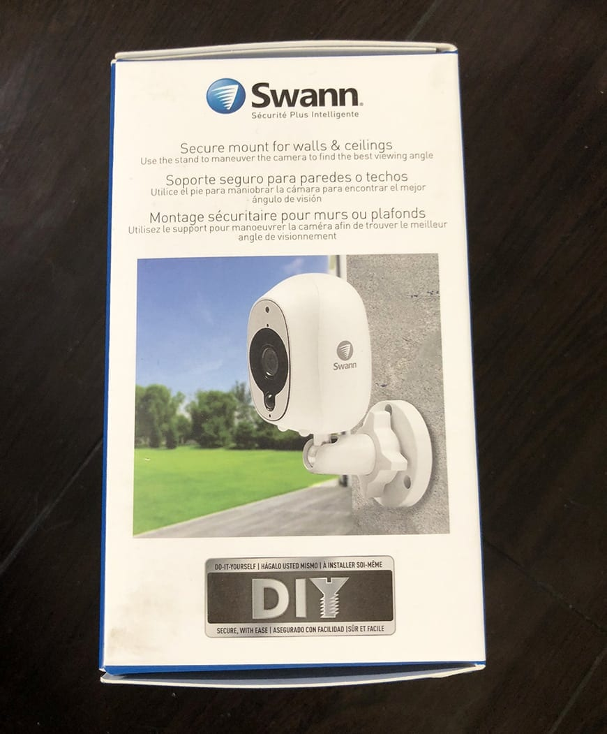 Swann Smart Security Camera Wireless 1080 Box Side