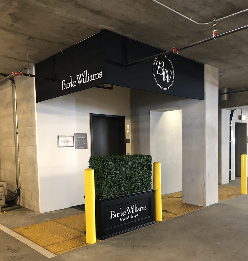 Burke Williams - clothing optional spa los angeles - parking entrance