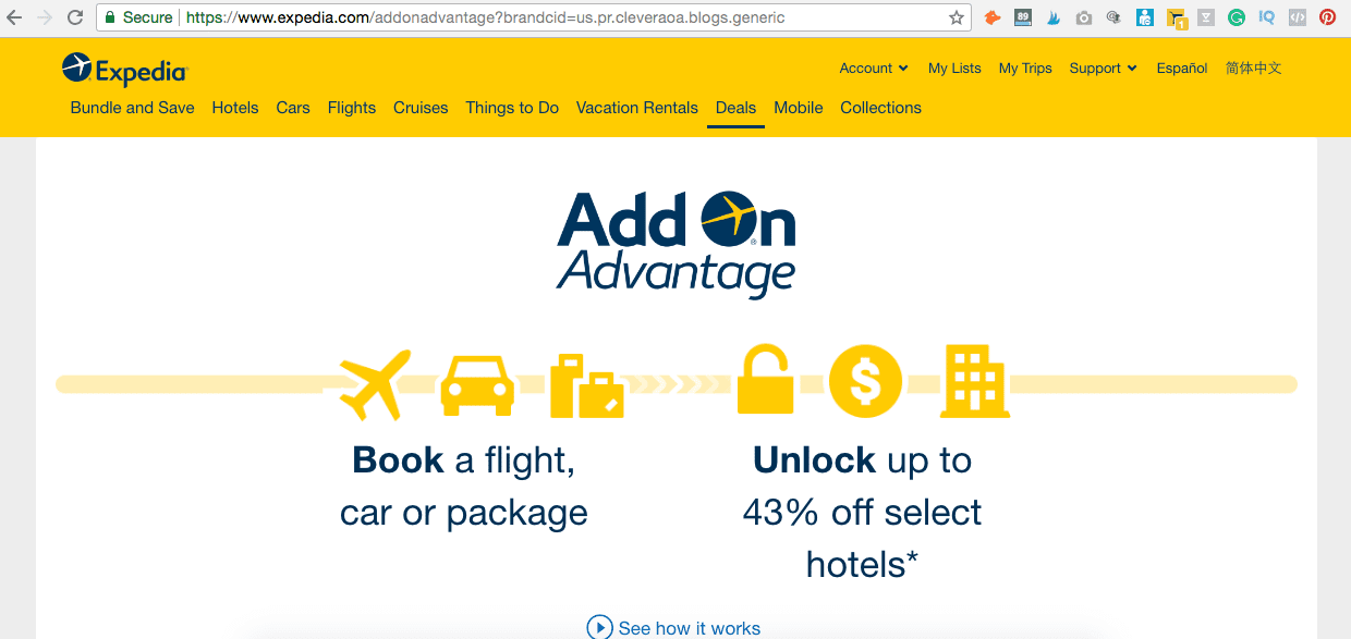 Expedia's Add On Advantage