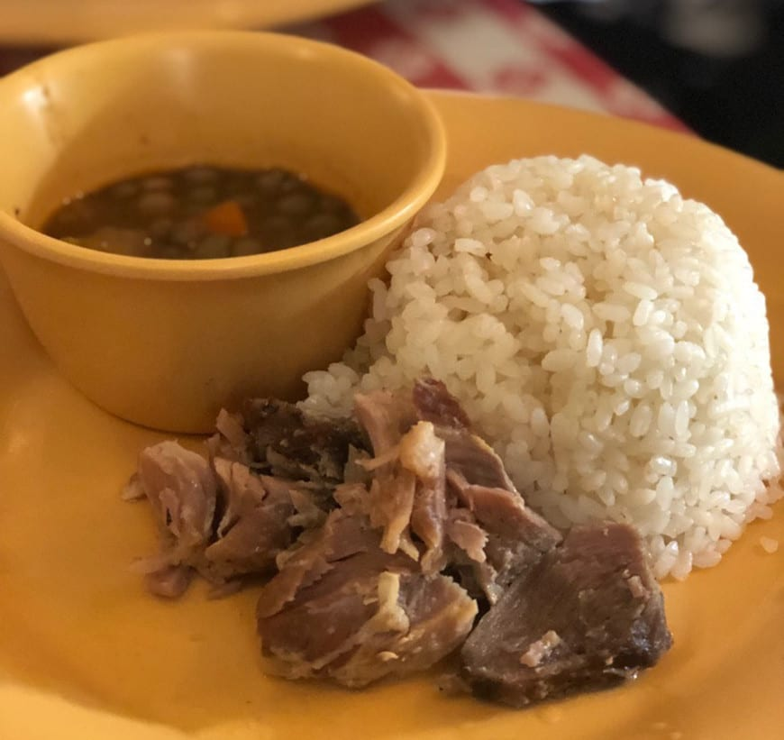 authentic old san juan walking food tour puerto rico - pork and beans 1