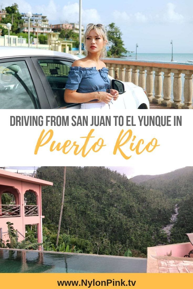 DRIVING FROM SAN JUAN TO EL YUNQUE - Everything you need to know about renting a car in Puerto Rico! #travel #driving #rentacar #enterprise #puertorico