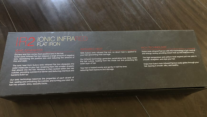 best hair straightener for extensions - sutra box back