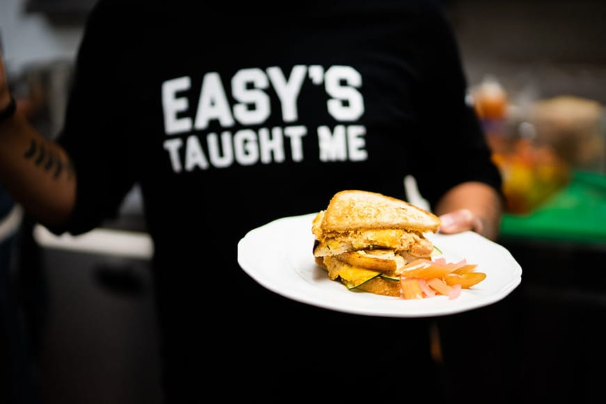 Easy's - Modern Diner inside the Beverly Center in Los Angeles - sandwich 2